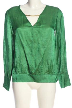 Reken Maar Schlupf-Bluse grün Casual-Look