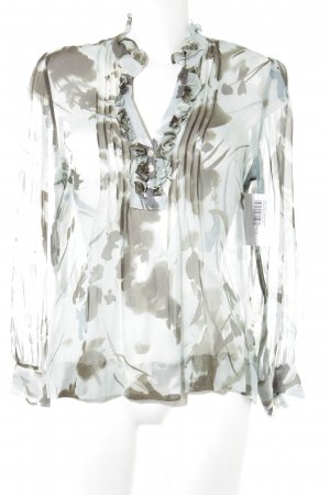 Reken Maar Transparenz-Bluse Blumenmuster Casual-Look