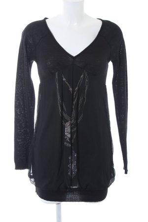 Reken Maar Vestito di lana nero motivo grafico stile casual