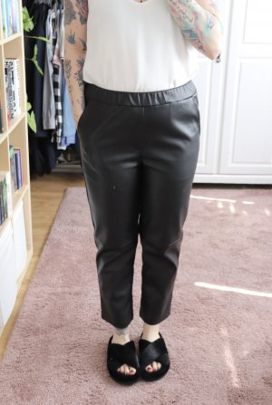 Orsay Faux Leather Trousers black