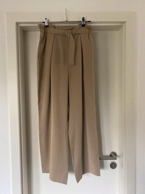 Relaxed Lyocell Trousers Arket Hose beige Gr. 44 Paperbag Sommerhose
