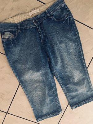 Street One Jeans a 3/4 blu scuro-blu acciaio Cotone