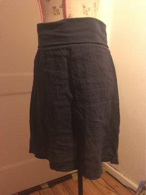 Julia Wang Linen Skirt dark blue
