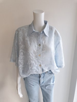 Release 46 Blau hellblau Hemd True vintage Bluse oversize pulli pullover top Shirt