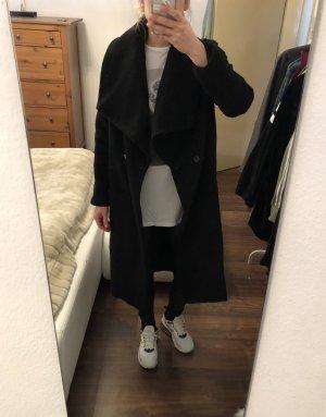 Religion Fellmantel Oversize Blogger Mantel Fake Fur schwarz Gr. 36