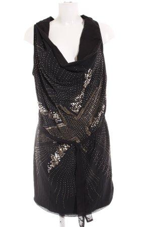 Religion Robe en jersey noir motif abstrait style festif