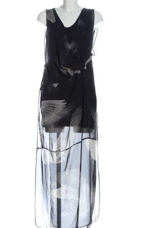 Religion Maxi abito nero-grigio chiaro stampa integrale stile casual