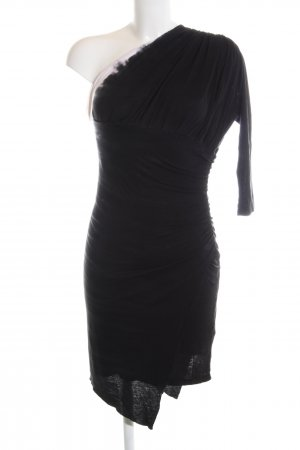 Religion One Shoulder Dress black elegant