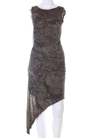 Religion Schlauchkleid bronzefarben-wollweiß abstraktes Muster Casual-Look
