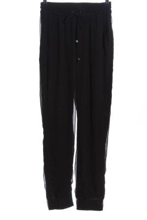 Religion Pantalon en jersey noir style décontracté