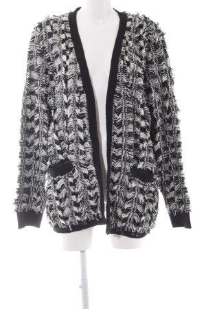 Religion Cardigan tricotés noir-blanc style décontracté