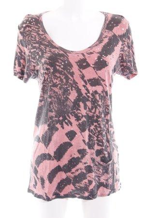 Religion T-shirt saumon-gris foncé motif abstrait style décontracté