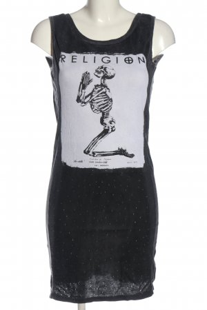 Religion Trägerkleid schwarz Motivdruck Casual-Look