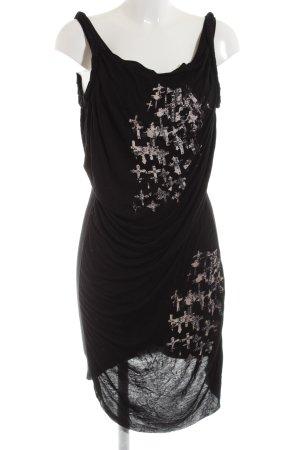 Religion Trägerkleid schwarz-wollweiß abstraktes Muster Casual-Look