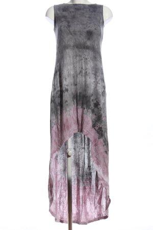 Religion Jurk met langere achterkant lichtgrijs-roze abstract patroon