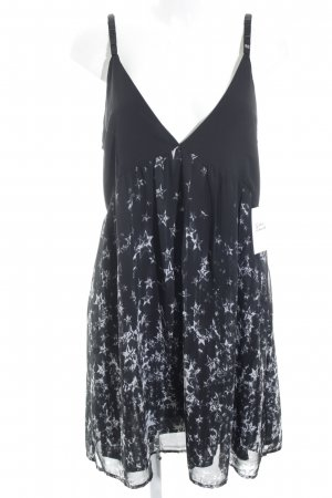 Religion Trägerkleid schwarz-weiß abstraktes Muster Casual-Look
