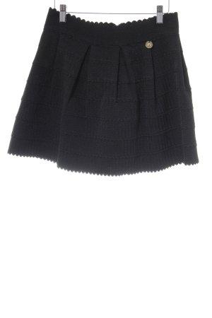 Relish Minirock schwarz Zackenmuster Elegant