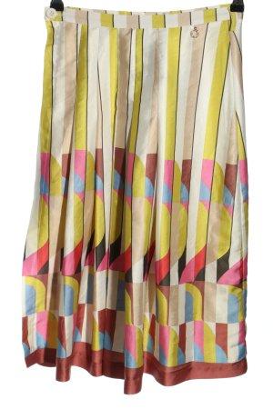 Relish Falda de tafetán estampado repetido sobre toda la superficie look casual