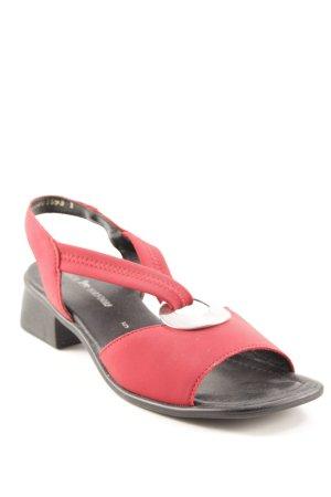 Remonte dorndorf Riemchen-Sandaletten schwarz-ziegelrot schlichter Stil