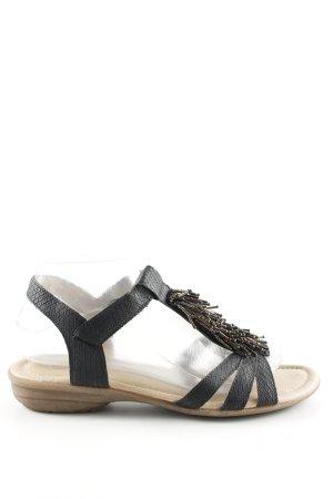 Remonte Riemchen-Sandalen schwarz Animalmuster Casual-Look