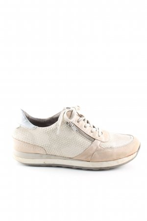Remonte Schnürsneaker creme-wollweiß Animalmuster Casual-Look