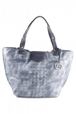 Remonte Shopper blau-weiß Allover-Druck Casual-Look