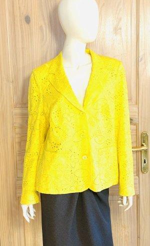 Rena Lange Klassischer Blazer neon yellow cotton