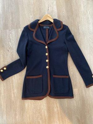 Rena Lange Blazer Cardigan dunkelblau Goldknopf Größe 36