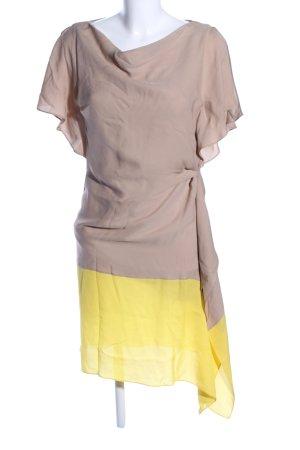 Rena Lange Blusenkleid braun-blassgelb Casual-Look