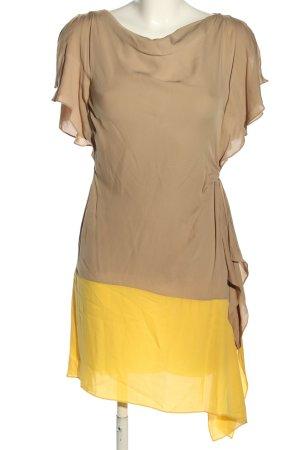 Rena Lange Blusenkleid blassgelb-bronzefarben Casual-Look
