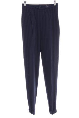Rena Lange Bundfaltenhose dunkelblau Streifenmuster Business-Look