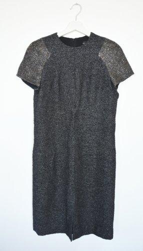 Rena Lange Etuikleid Boucle Tweed bestickt  Kurzarm Gr. 36