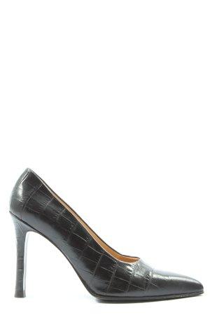 Rena Lange High Heels schwarz abstraktes Muster Casual-Look