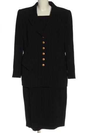 Rena Lange Kostüm schwarz Streifenmuster Elegant