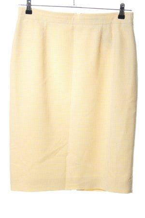 Rena Lange Spódnica midi kremowy Wzór w kratkę W stylu casual