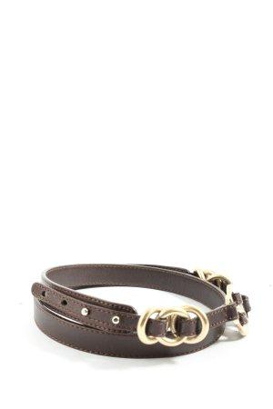 Rena Lange Cintura di pelle marrone stile professionale