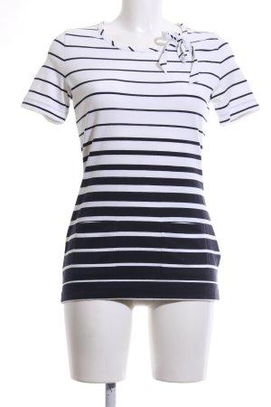 Rena Lange Longshirt weiß-schwarz Streifenmuster Casual-Look