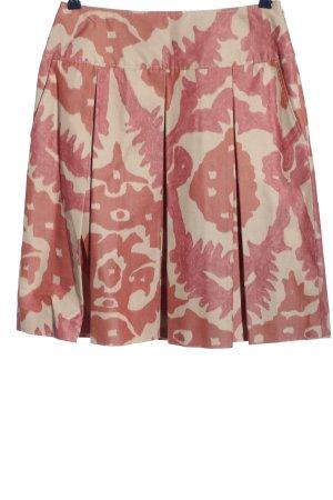 Rena Lange Spódnica midi czerwony-w kolorze białej wełny Abstrakcyjny wzór