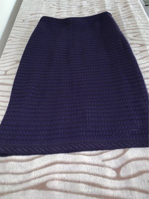 Rena Lange Knitted Skirt dark violet