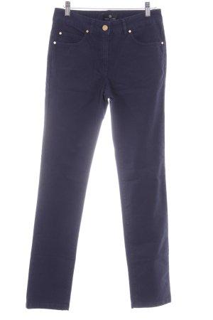 Rena Lange Pantalón con estribo azul oscuro look casual