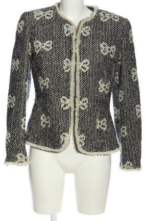 Rena Lange Tweed Blazer black-white allover print business style