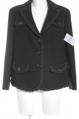 Rena Lange Blazer in tweed nero stile professionale