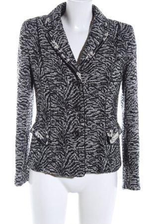 Rena Lange Wolljacke schwarz-weiß abstraktes Muster Business-Look
