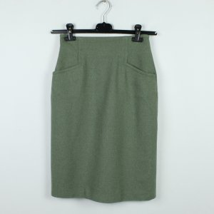 Rena Lange Wool Skirt green grey mixture fibre