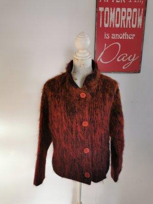 Rena Lange Wollwalk Jacke Kurzjacke rot gemustert Größe 38