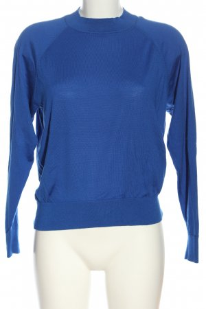 Rena Marx Feinstrickpullover blau Zopfmuster Casual-Look