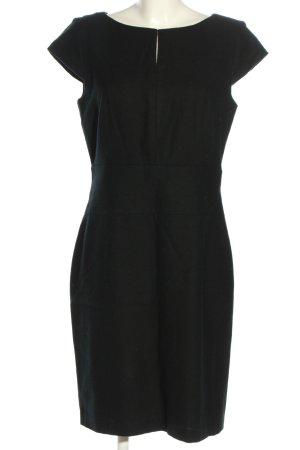 Rena Marx Vestido de lana negro estilo «business»