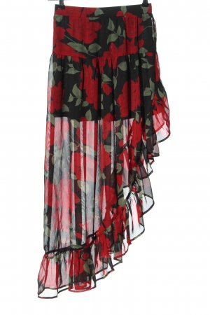 Renamed Apparel Asymmetry Skirt allover print party style