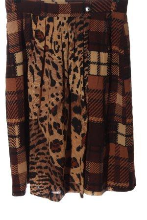 renard Falda a cuadros marrón estampado a cuadros look casual
