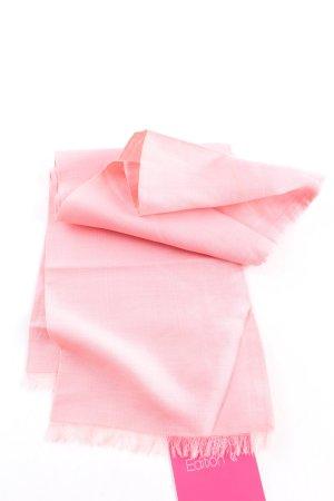 renard Écharpe en soie rose style décontracté